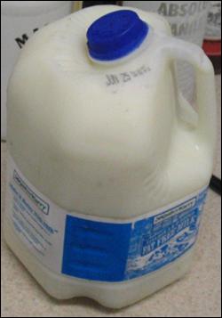An easy-pour gallon of milk