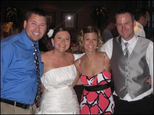 Brad Daniels, Amanda Kelley, Tiffany Daniels, and Adam Kelley
