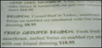 Fried Grouper Reuben