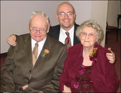 Lou Pickney with Granddaddy & Grandmama Blaylock