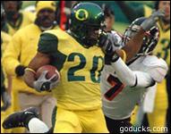The Oregon Ducks' yellow uniform