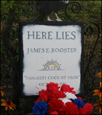 James E. Rooster's headstone