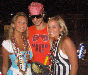 Macho Man and two girls at Guavaween 2005